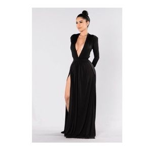 Long black dress from Fashion Nova
